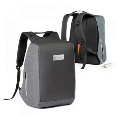 t7-promocional - Mochila para notebook em 900d de alta densidade e tarpaulin, sistema anti furto: compartimento principal com zíper oculto e parte posterior com 2 bols...