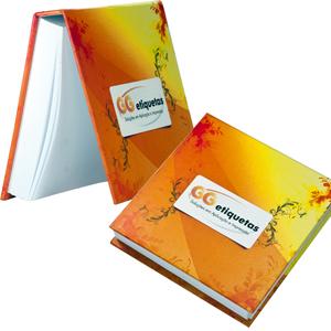 dz9-grafica - Bloco de anotações personalizado - Linha colors - capa dura 11 x 11 cm - 200 folhas (off-set ou reciclado).