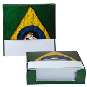 dz9-grafica - Bloco caixa personalizado - Com rascunho 250 folhas - 8 x 8 cm.