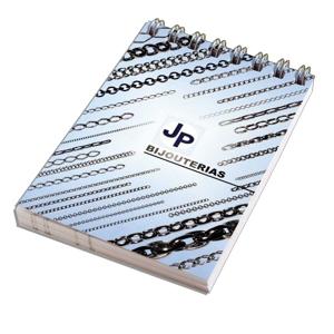 DZ9 Gráfica - Blocos de anotações personalizado wire-o. Capa flexível em 4 cores, acabamento em wire-o, com 50 ou 100 folhas impressas em 1 X 0 cor.