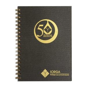 dz9-grafica - Caderno Personalizado - Linha Percalux - Medidas: 18 x 25 cm. Aplicação em hot stamping ou baixo relevo. 96 folhas + dados pessoais / calendário padrã...