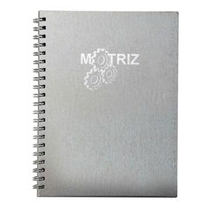dz9-grafica - Caderno Personalizado - Linha Percalux - Medidas: 15 x 21 cm. Aplicação em hot stamping ou baixo relevo. 96 folhas + dados pessoais / calendário padrã...