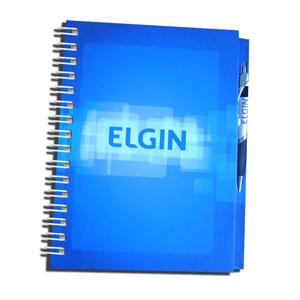dz9-grafica - Caderno Personalizado - Linha colors com porta caneta - Capa dura 18 x 25 cm - folha institucional, dados e calendário, 96 folhas personalizadas.