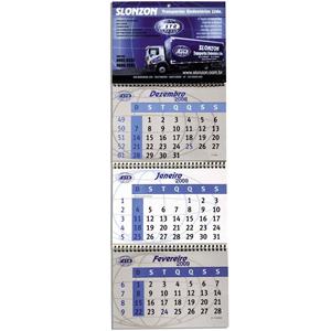 dz9-grafica - Calendário de parede personalizado - Articulado wire-o (medidas da testeira: 18,5 X 25,5 cm).