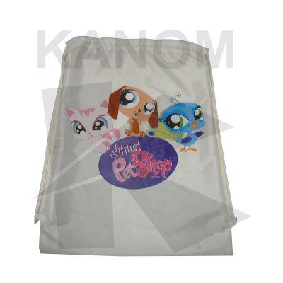 Kanom Promocionais - Mochila saco fechamento em cordão.