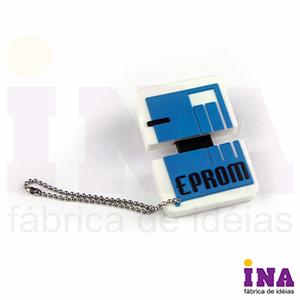 Ina Brindes - Pendrive emborrachado com personalização em alto relevo até 4 cores. Desenvolvimento formato exclusivo do cliente