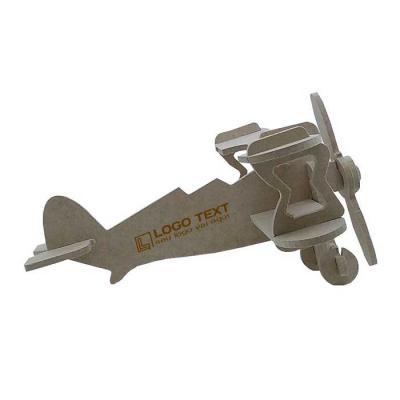 Ecologik Sustentáveis - Quebra-cabeça 3D aviador - Produzido em madeira 100% proveniente de reflorestamento.  Gravação de logomarca no sistema Hotstamping sem emissão de CO²...