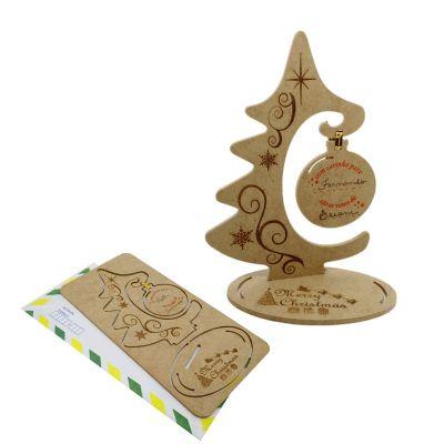 Ecologik Sustentáveis - Cartão de natal 3D  - Destaque e monte uma bela árvore de natal. Pode ser postado em envelope. Produzido em madeira 100% proveniente de reflorestament...