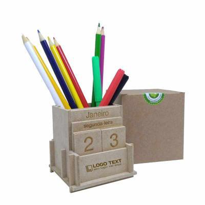 ecologik-sustentaveis - Calendário permanente com porta canetas - DATAPEN