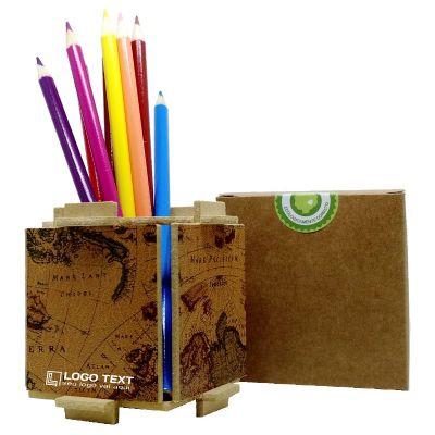 Ecologik Sustentáveis - Porta Lápis Enjoy mapa