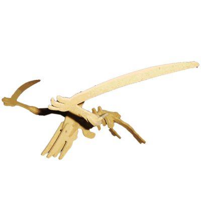 Ecologik Sustentáveis - Quebra-cabeça 3D Dinossauro Pteronodonte.