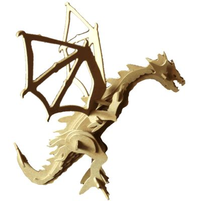 Ecologik Sustentáveis - Quebra-cabeça 3D dragão. Produzida em material 100%  proveniente de reflorestamento.Gravação de logomarca no sistema Hotstamping sem emissão de CO² Pr...
