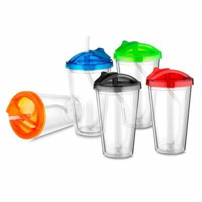 CAO Brindes - Copo de Plástico com canudo