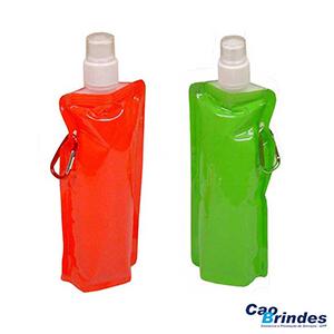 CAO Brindes - Squeeze dobrável de plástico 480 ml.