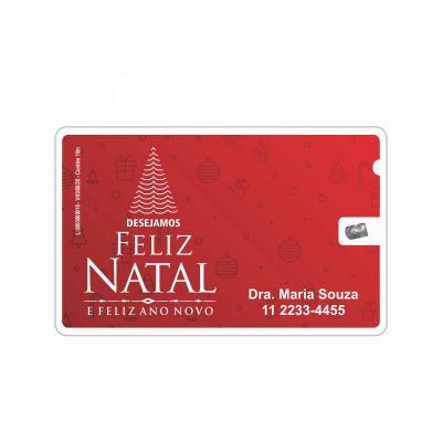 Elemento W - Cartão de Natal com fio dental