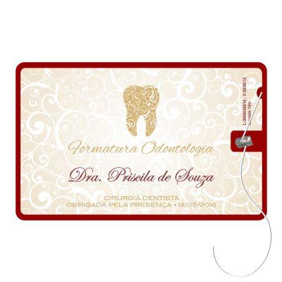 Elemento W - Cartão de Formatura com Fio Dental