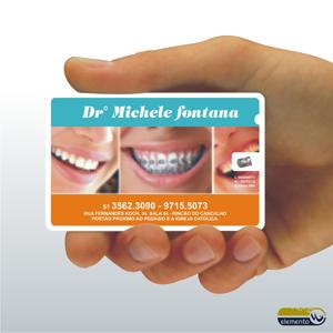c330492ca Cartão de Visita personalizado com Fio Dental (Etiqueta impressa