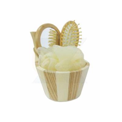 Armazém Brasileiro - Kit Banho Ecológico. Com: 01 tina pequena, 01 escova cabelo, 01 esponja para banho e 01 espelho