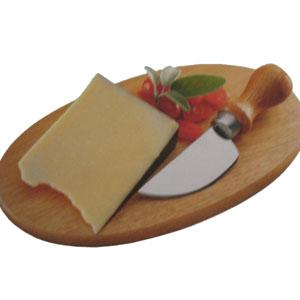 Armazém Brasileiro - Tábua personalizada oval para queijo com faca gruyere em aço inox e cabo de madeira . Medidas : 26 x 16 x 1,4 cm.Ofereça a seus melhores clientes um p...