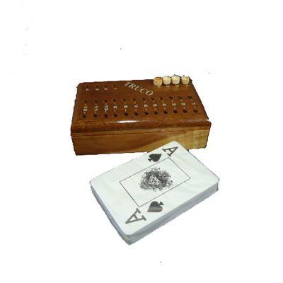 Armazém Brasileiro - Estojo madeira com jogo de truco.