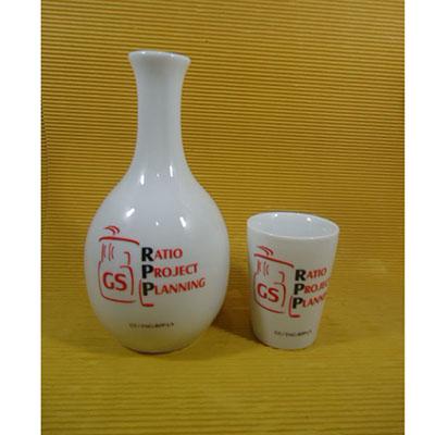 Armazém Brasileiro - Moringa 800ml, com copo em porcelana na cor branca