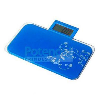 Potencial Brindes - Balança portátil em plástico resistente e vidro.