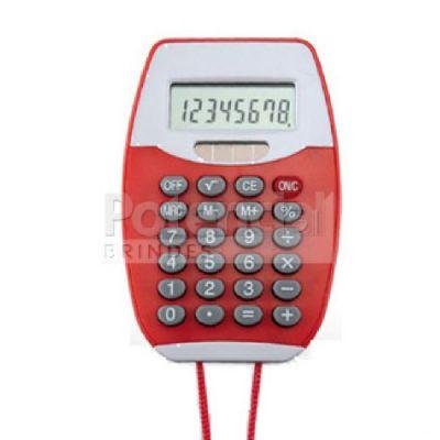 Potencial Brindes - Calculadora de plástico personalizada com cordão.
