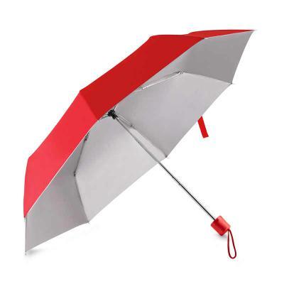 Potencial Brindes - Guarda-chuva com cabo plástico e haste de metal, com capa protetora, abertura manual, tecido poliéster, com oito varetas. Dimensão Produto Fechado: 24...