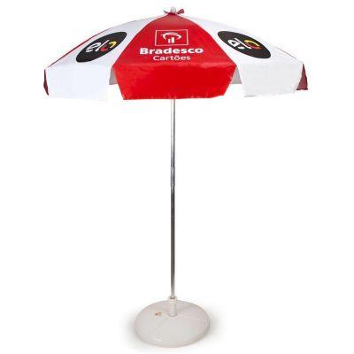 Potencial Brindes - Guarda sol com impressão personalizada e peso na base. Para maiores informações, consulte um de nossos consultores.