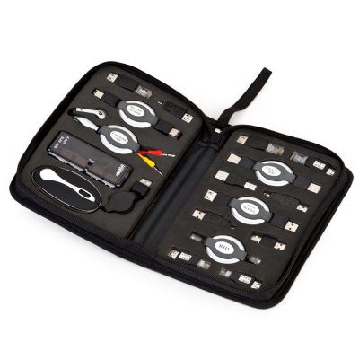 Potencial Brindes - Kit usb com 17 peças diversas entre conectores, extensores e adaptadores.