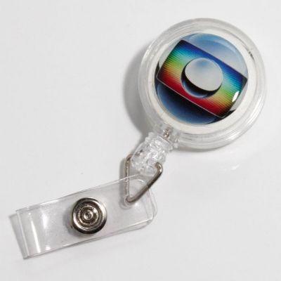 Potencial Brindes - Porta crachá retrátil em diversas cores.