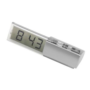 Potencial Brindes - Relógio digital de mesa, com formato personalizado.