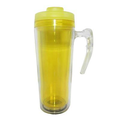 Mugmania - Mug com Alça Transparente interno Amarelo