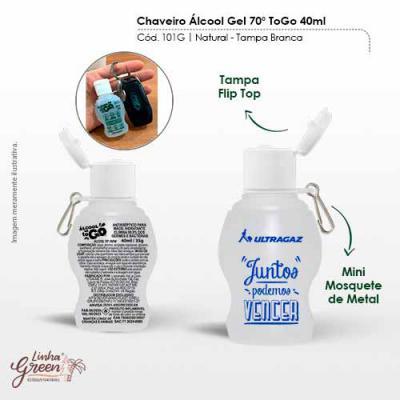 BB Grupo - Chaveiro Álcool Gel To Go é composto por álcool 70º que combate 99,9% dos germes durante a higienização das mãos. É hidratante e ideal para você! Fabr...