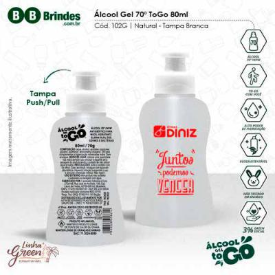 BB Grupo - Álcool Gel 70 ToGo 80ml