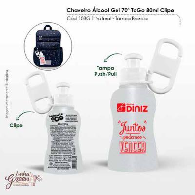 BB Grupo - Chaveiro Álcool Gel To Go é composto por álcool 70º que combate 99,9% dos germes durante a higienização das mãos. É hidratante e ideal para você! Prod...