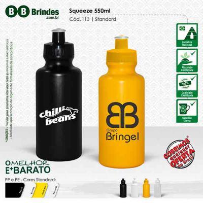 BB Grupo - Squeeze standard 550ml: Feito de PE resistente e flexível, tampa rosqueável em PP e bico em PVC cristal. Acabamento e vedação impecável. Capacidade de...