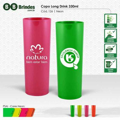 BB Grupo - Copo long drink 330ml neon