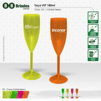 BB Grupo - Taça VIP champagne 180ml, alta resistência, reforçada, acabamento impecável, alta transparência