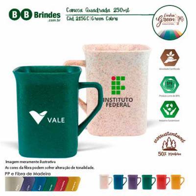 BB Grupo - Caneca Quadrada Green Colors 250ml
