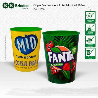 BB Grupo - Copo promocional desenvolvido com alta tecnologia de produção e personalização em in mold label. Ideal para campanhas de grandes volumes. Acabamento d...