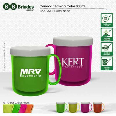 eed00f92951ab5 Caneca térmica gel 300 ml neon - 163174 | Portal Brindes Demais