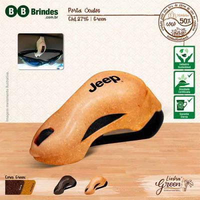BB Grupo - Porta Óculos Green: Porta Óculos Eco Sustentável que pode ser feito com 50% de Fibra Natural de Coco ou Fibra Natural de Madeira de Reflorestamento. P...