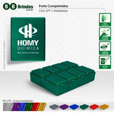 BB Grupo - Porta comprimidos retangular com 8 compartimentos, tampa articulada, com dias da semana.