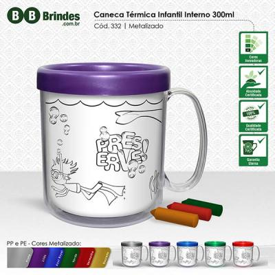 BB Grupo - Caneca térmica infantil metalizada 300 ml