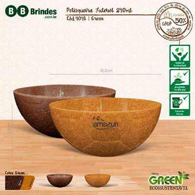 BB Grupo - Petisqueira Futebol Green pode ser em Coco ou Madeira: Petisqueira em formato de bola de futebol, feita em plástico atóxico, resistente à micro-ondas...