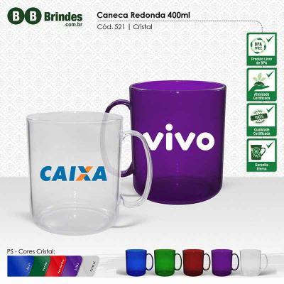 BB Grupo - Caneca redonda cristal color 300 ml