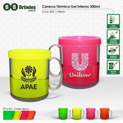 BB Grupo - Caneca térmica gel 300 ml neon