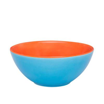 Oxford Gifts - Tigela Bicolor Azul com Laranja