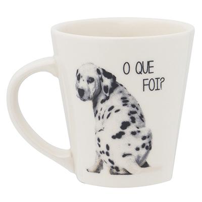 Oxford - Caneca drop decorada 250 ml em cerâmica.